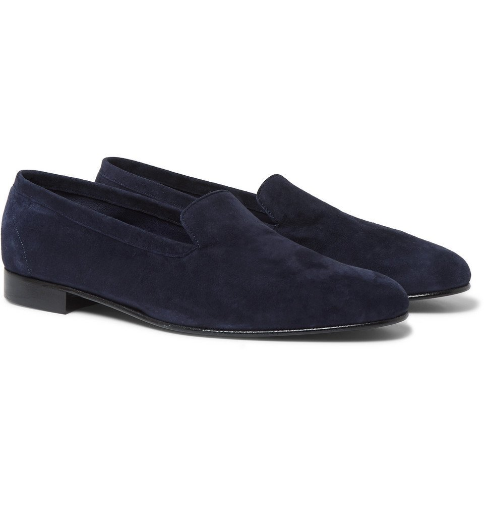 Photo: George Cleverley - Hedsor Suede Loafers - Navy