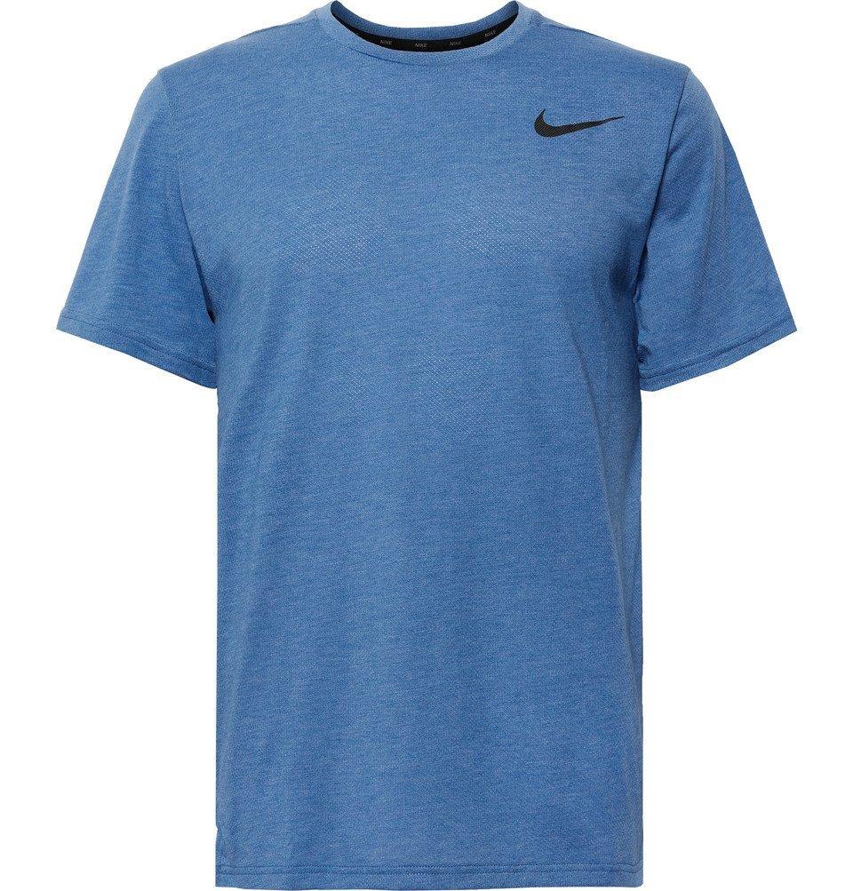 Photo: Nike Training - Breathe Perforated Dri-FIT T-Shirt - Blue