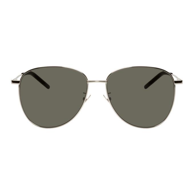 Photo: Saint Laurent Silver SL 328/K Sunglasses
