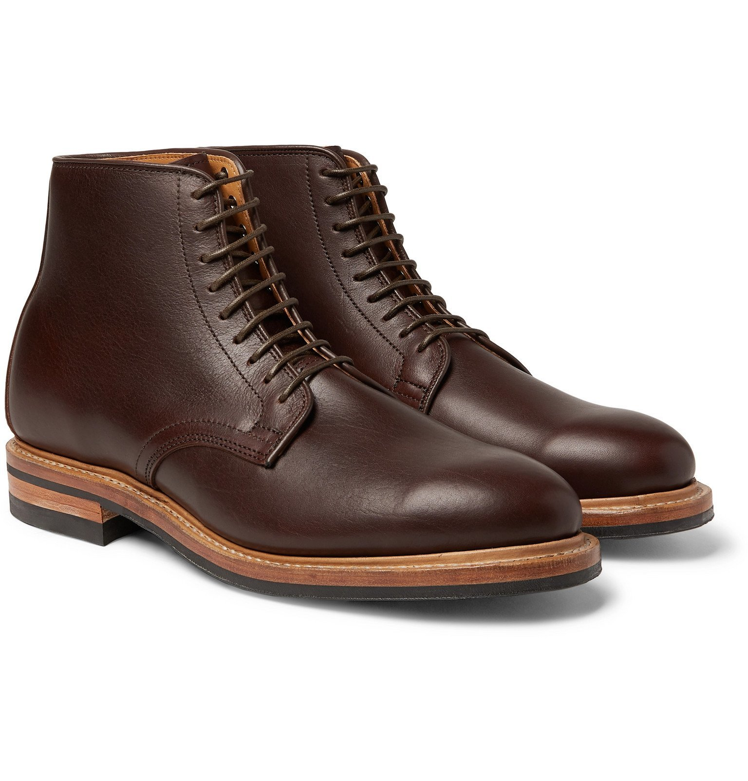 Photo: Viberg - Leather Boots - Brown