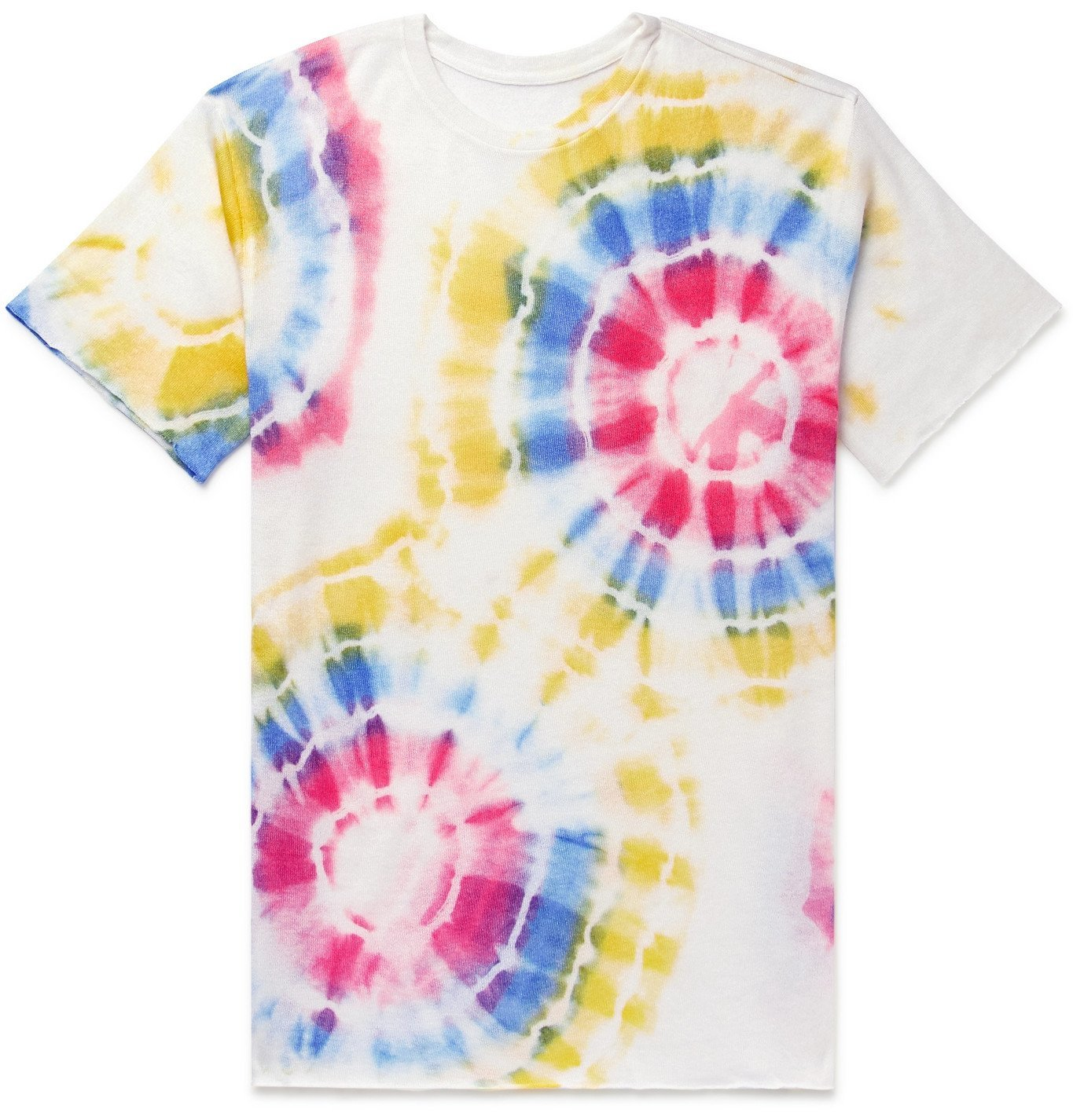 Photo: The Elder Statesman - Tie-Dyed Cashmere and Silk-Blend T-Shirt - Multi