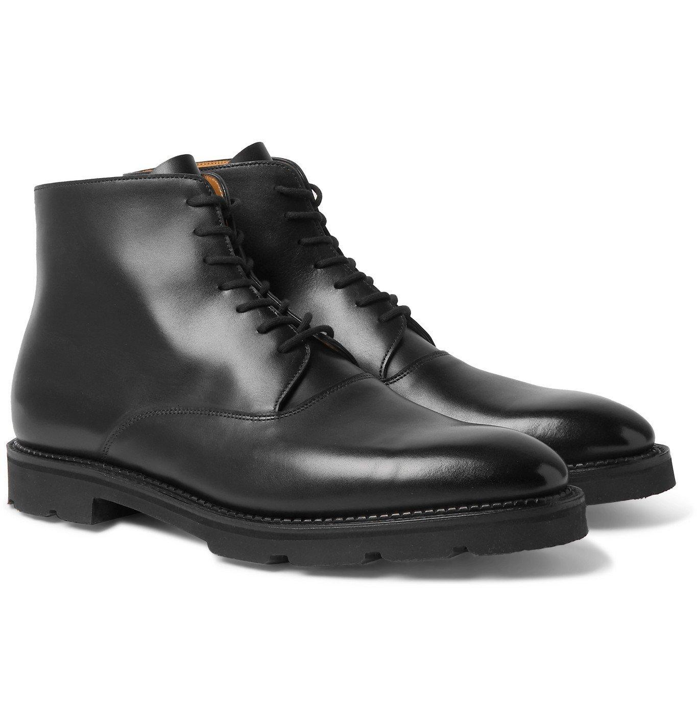 Photo: John Lobb - Burrow Leather Boots - Black