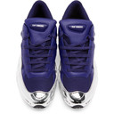 Raf Simons Navy and Silver adidas Originals Edition Ozweego Sneakers