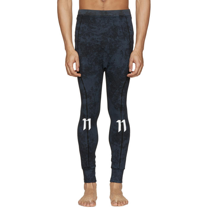 Photo: 11 by Boris Bidjan Saberi Blue Marbled Leggings