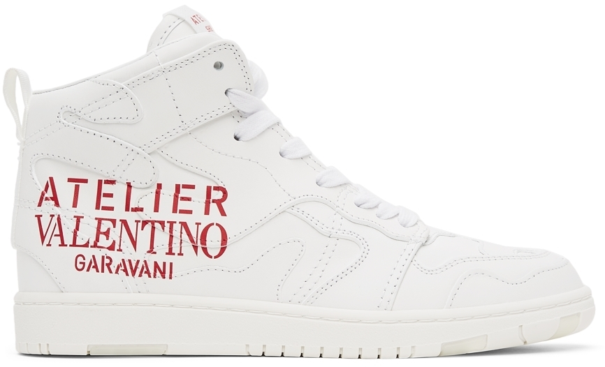 Photo: Valentino Garavani White 07 Camouflage Edition Atelier Mid-Top Sneakers
