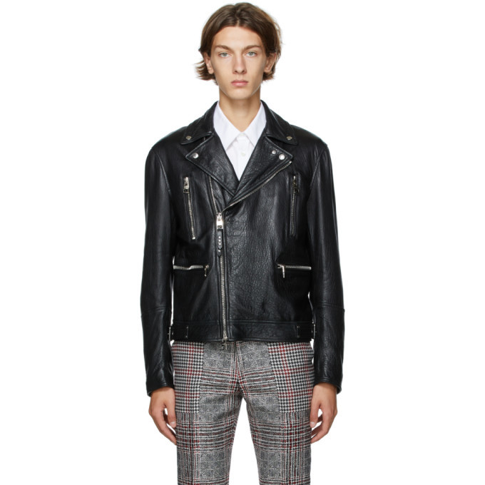 Photo: Alexander McQueen Black Leather Biker Jacket
