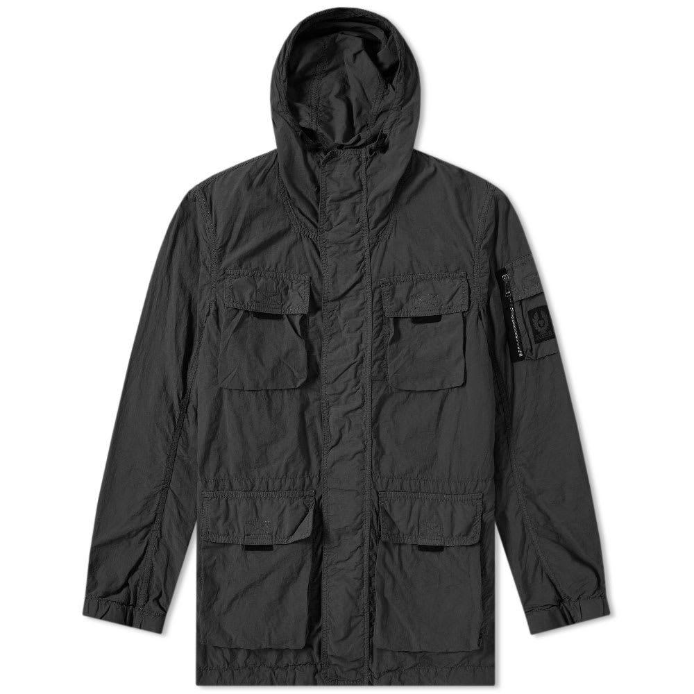 Belstaff Pallington Garment Dyed Nylon Jacket Black