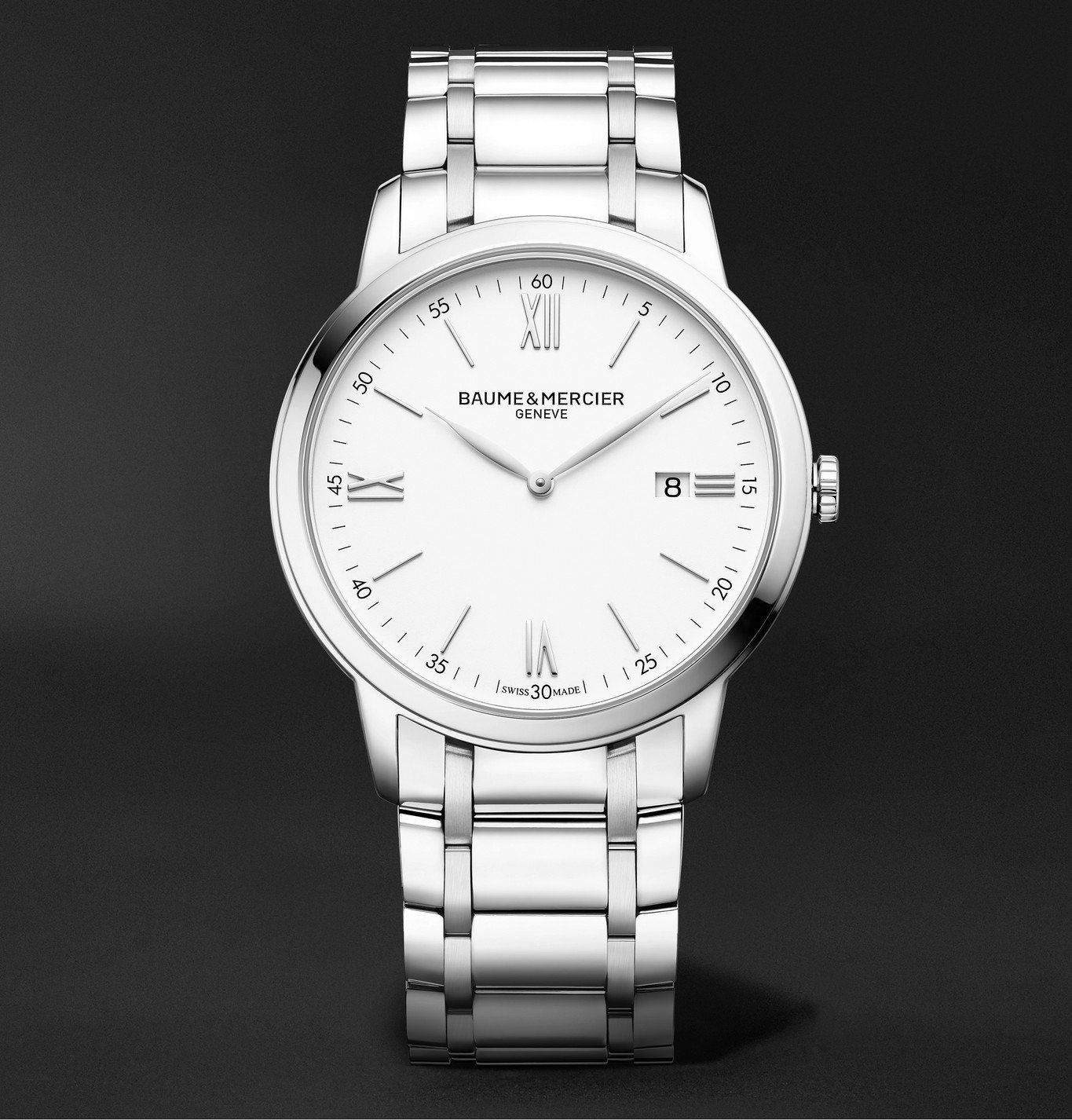 Photo: Baume & Mercier - Classima 42mm Stainless Steel Watch, Ref. No. MOA10526 - Silver