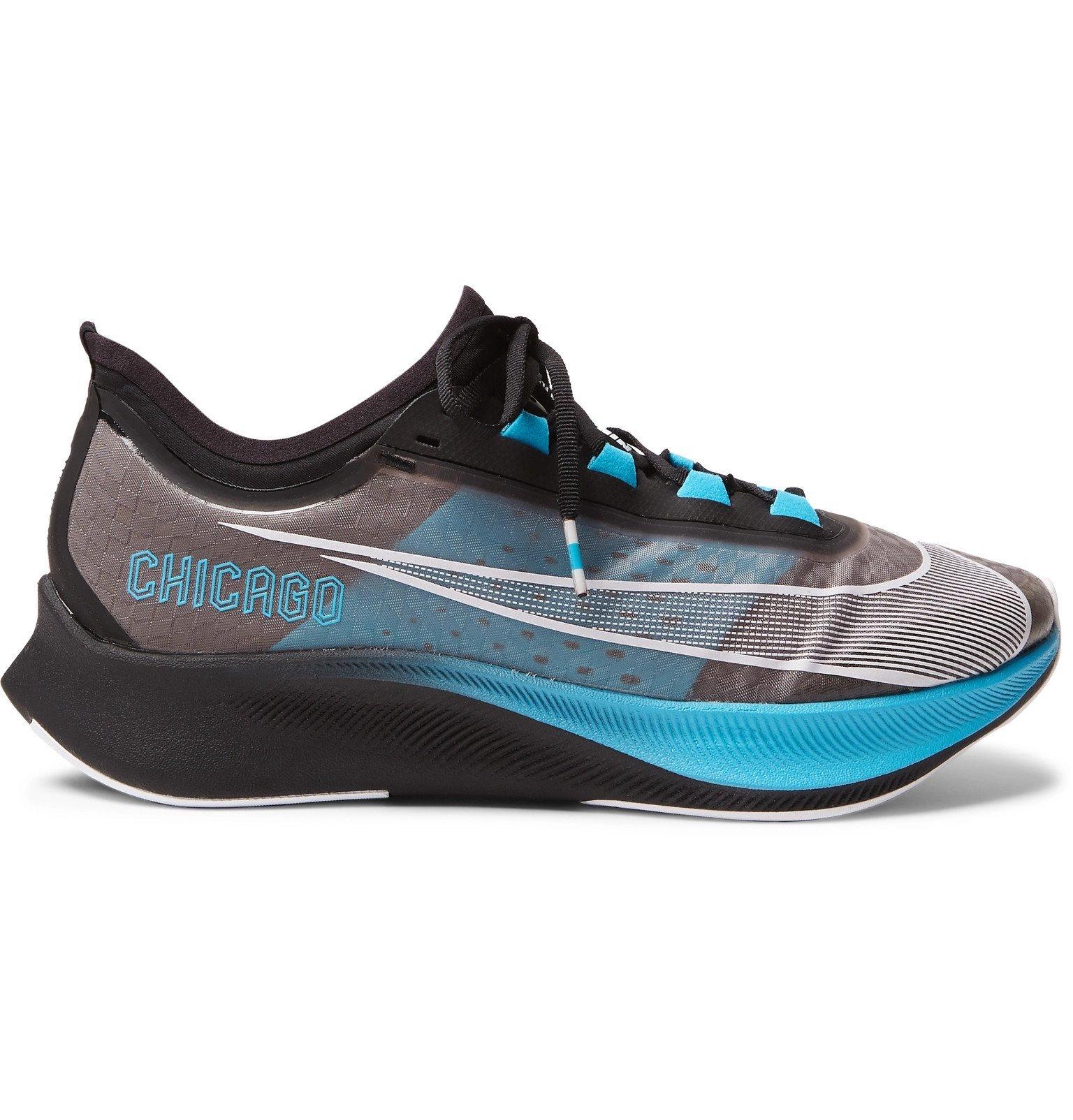 Nike Running - Zoom Fly 3 Vaporweave Running Sneakers - Black