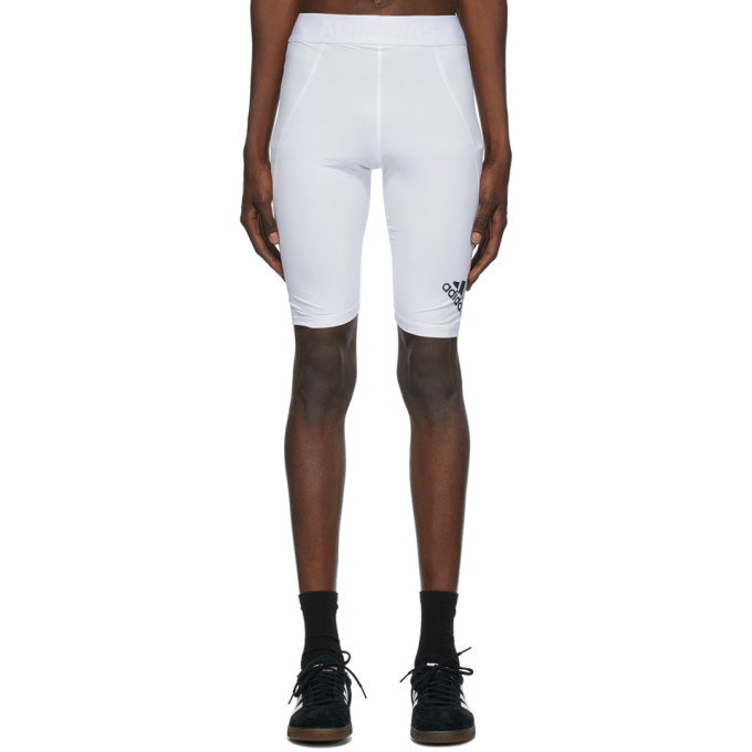 Photo: adidas Originals White Alphaskin Sport Tight Shorts