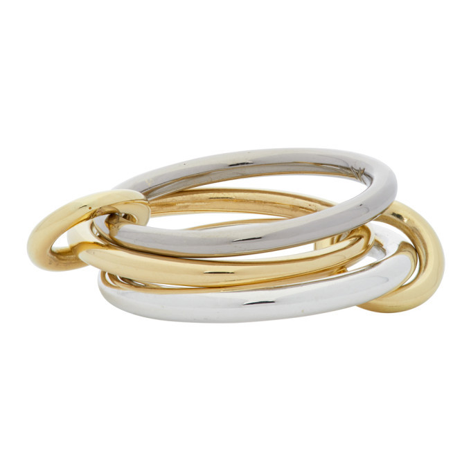 Photo: Spinelli Kilcollin Silver and Gold Fauna Three-Link Ring