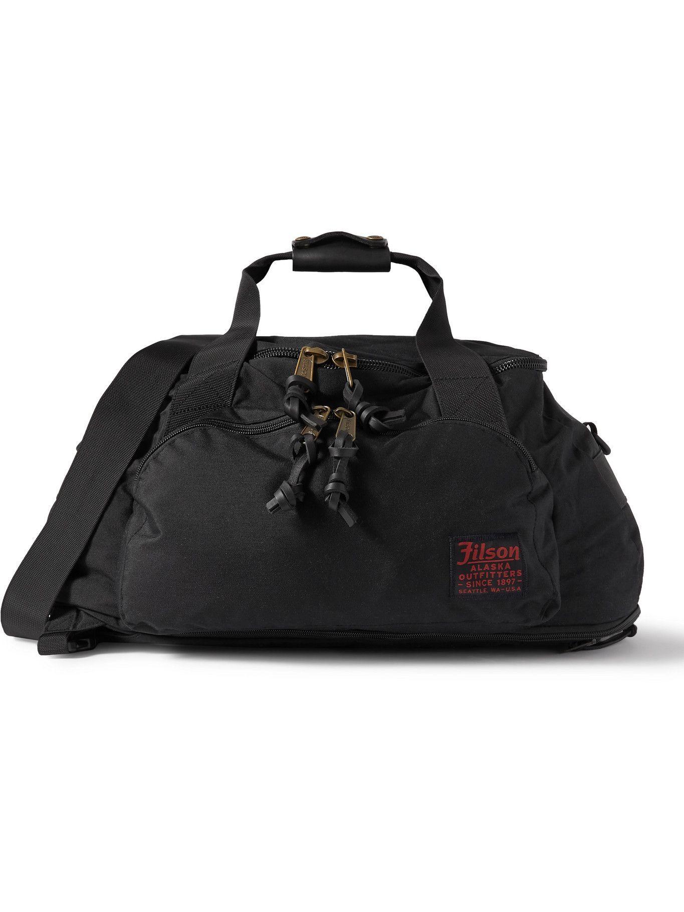 Photo: FILSON - Leather-Trimmed Nylon Duffle Bag