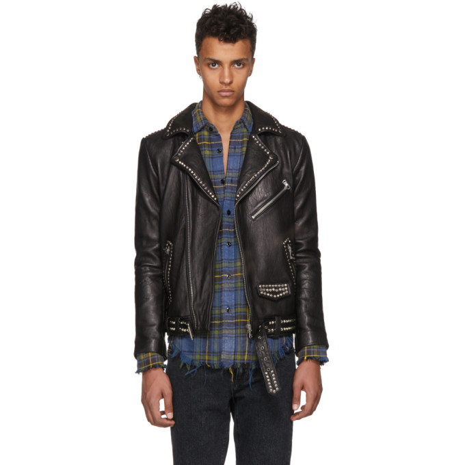 Photo: Stolen Girlfriends Club Black Studded Stolen Joey Leather Jacket