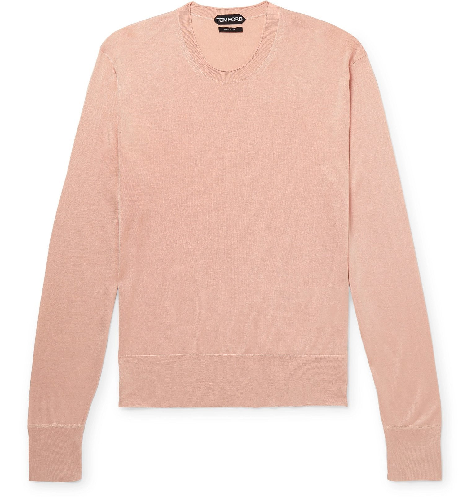 Photo: TOM FORD - Slim-Fit Silk Sweater - Pink