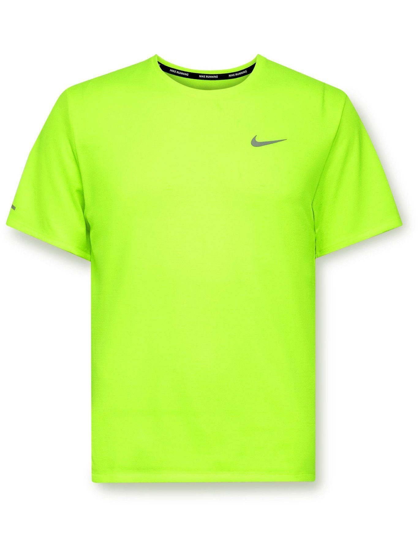 Photo: Nike Running - Miler Dri-FIT T-Shirt - Yellow