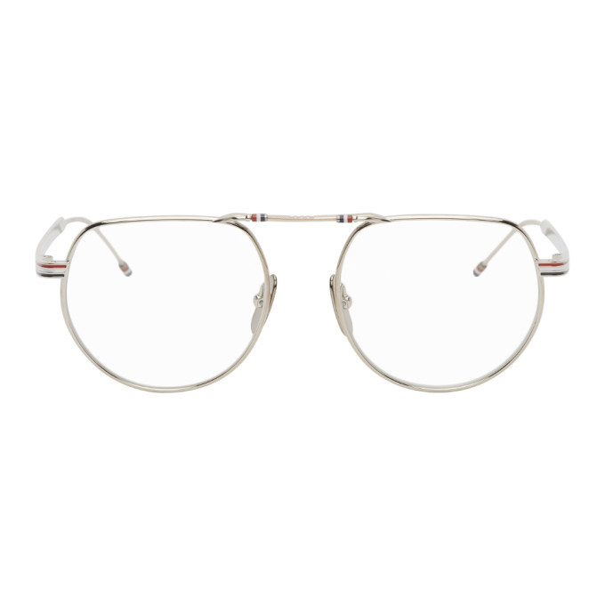 Photo: Thom Browne Silver TBX918 Glasses