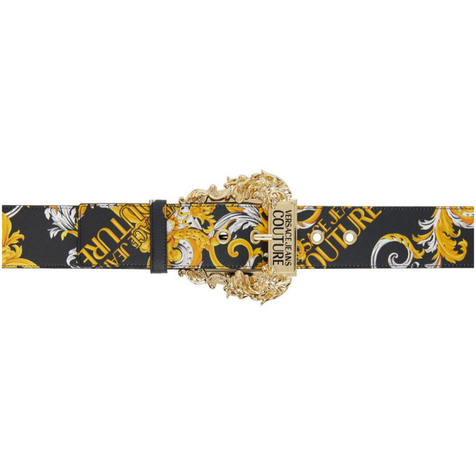 Photo: Versace Jeans Couture Black Saffiano Baroque Belt