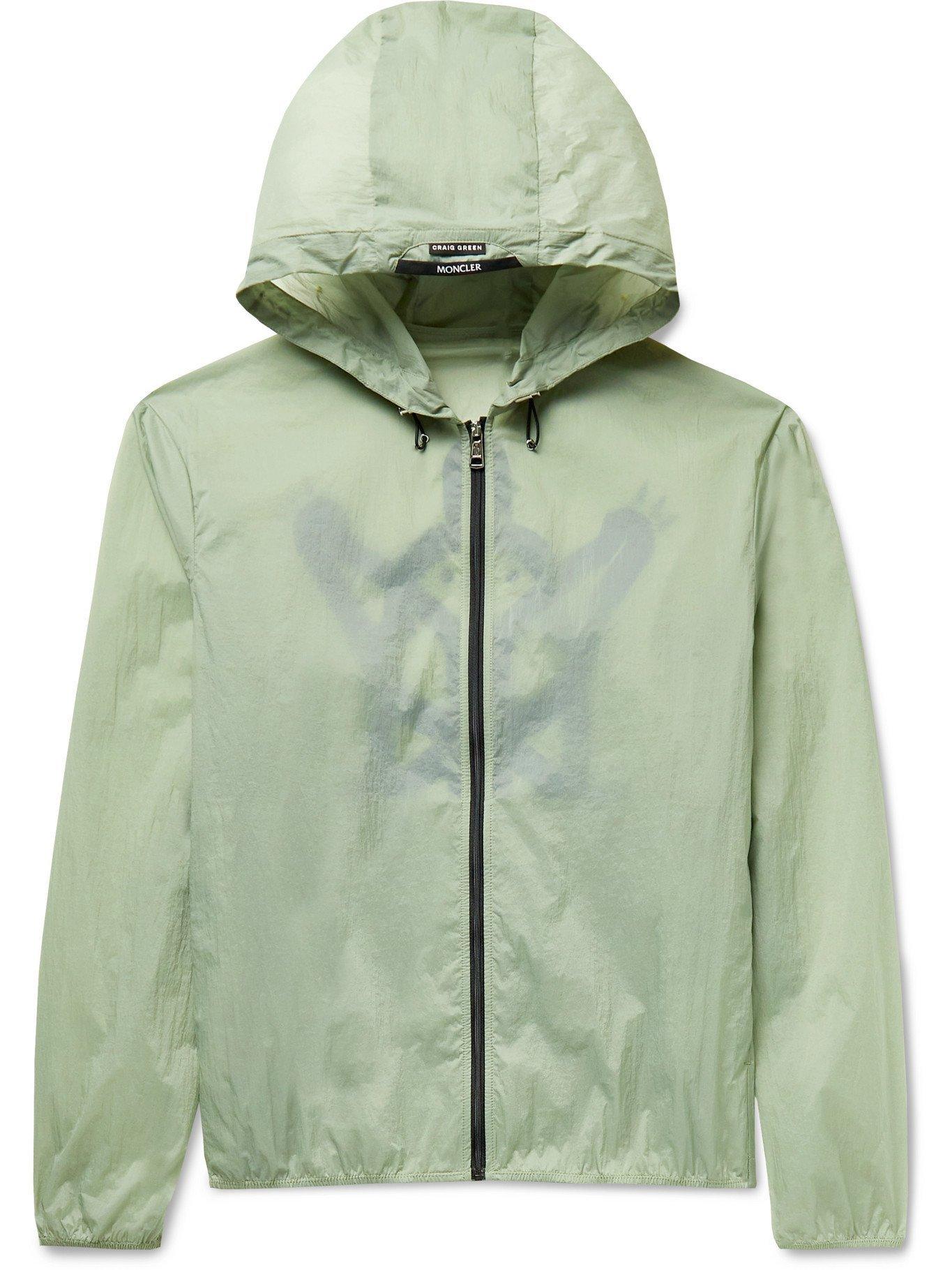 Photo: MONCLER GENIUS - 5 Moncler Craig Green Oxybelis Printed Nylon Hooded Jacket - Green