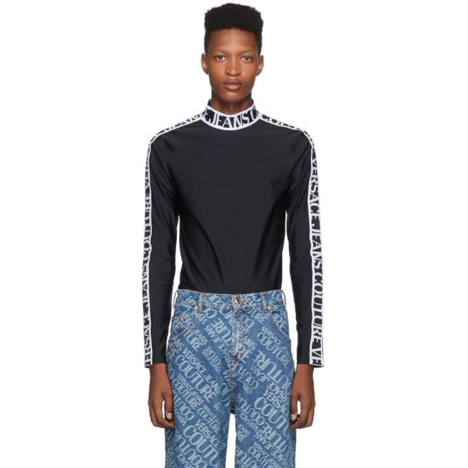 Versace Jeans Couture Black Techno Tribute Turtleneck