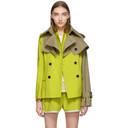 Sacai Yellow and Tan Blouson Jacket