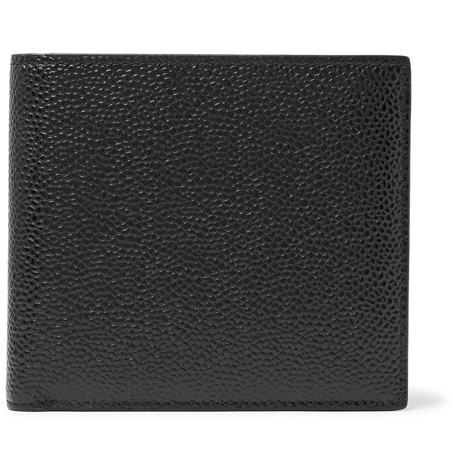 Photo: Thom Browne - Pebble-Grain Leather Billfold Wallet - Black