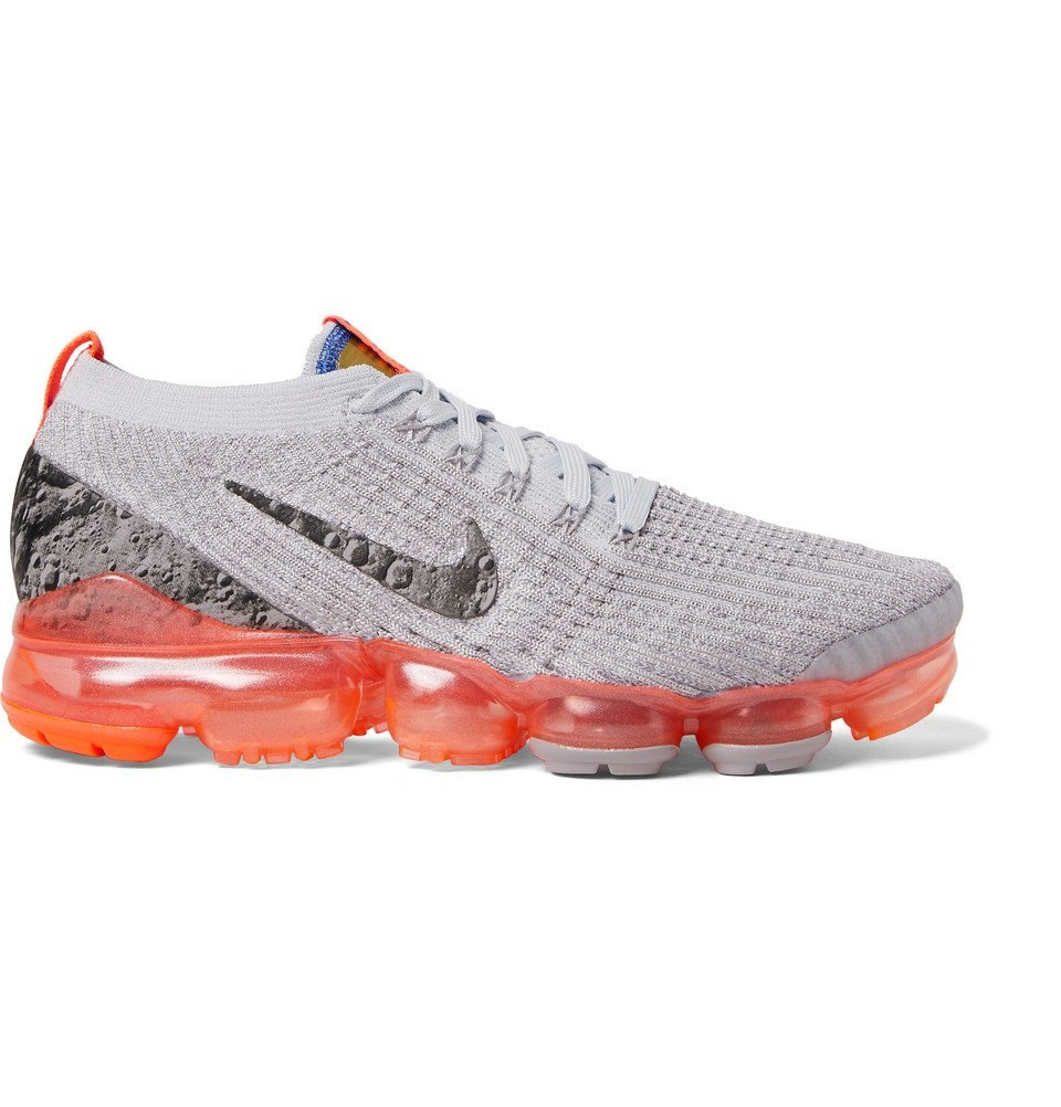 Photo: Nike Running - Air VaporMax Flyknit 3 Sneakers - Gray