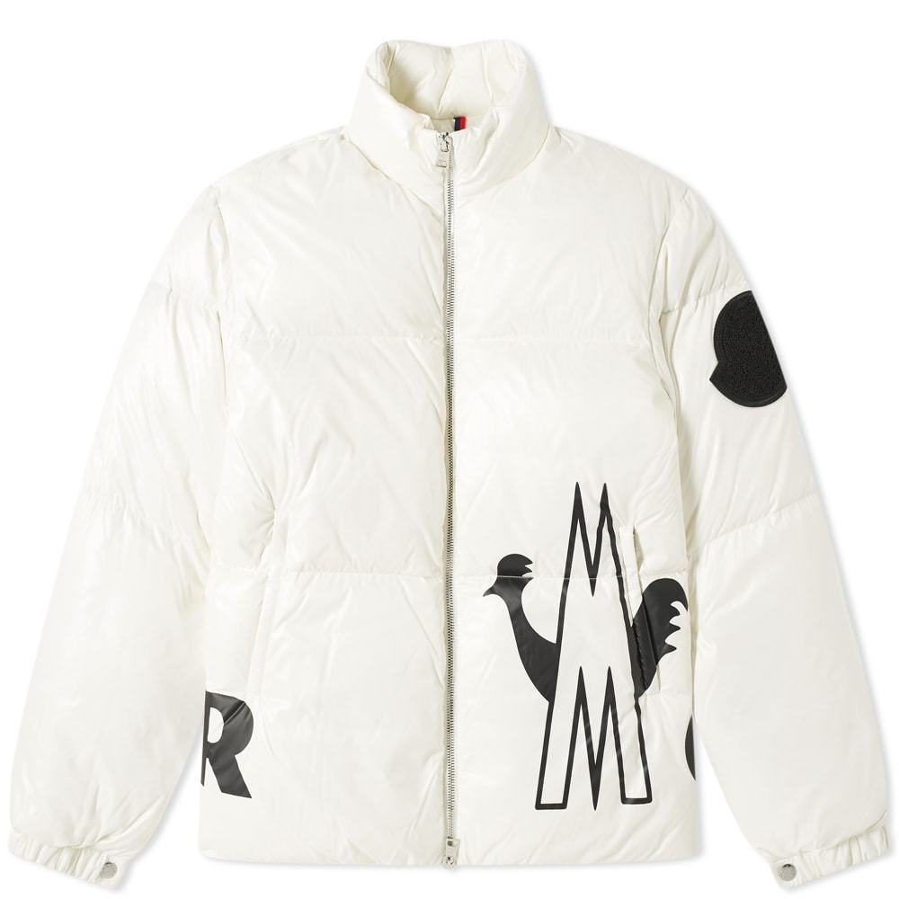 Photo: Moncler Friesian Logo Printed Down Jacket