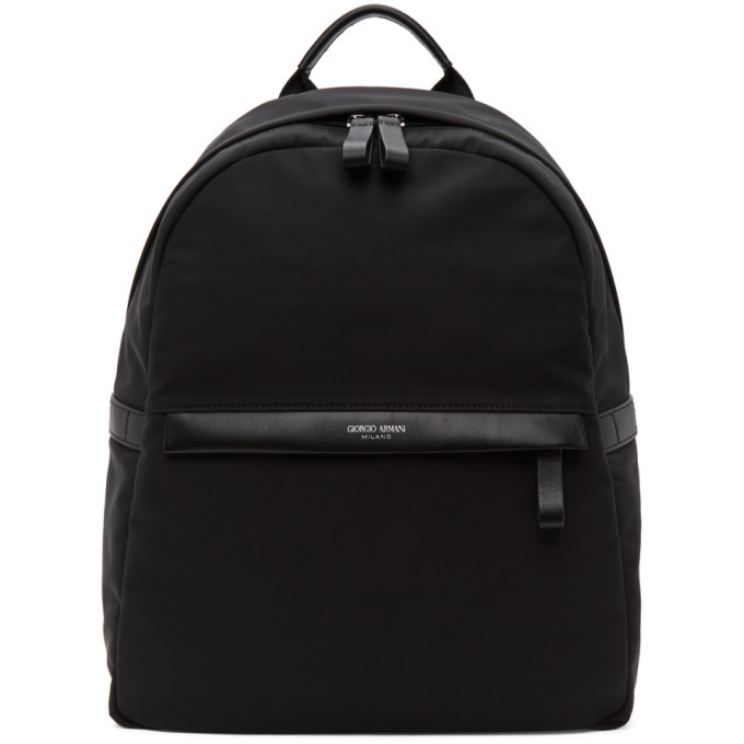 Photo: Giorgio Armani Black Nylon Backpack