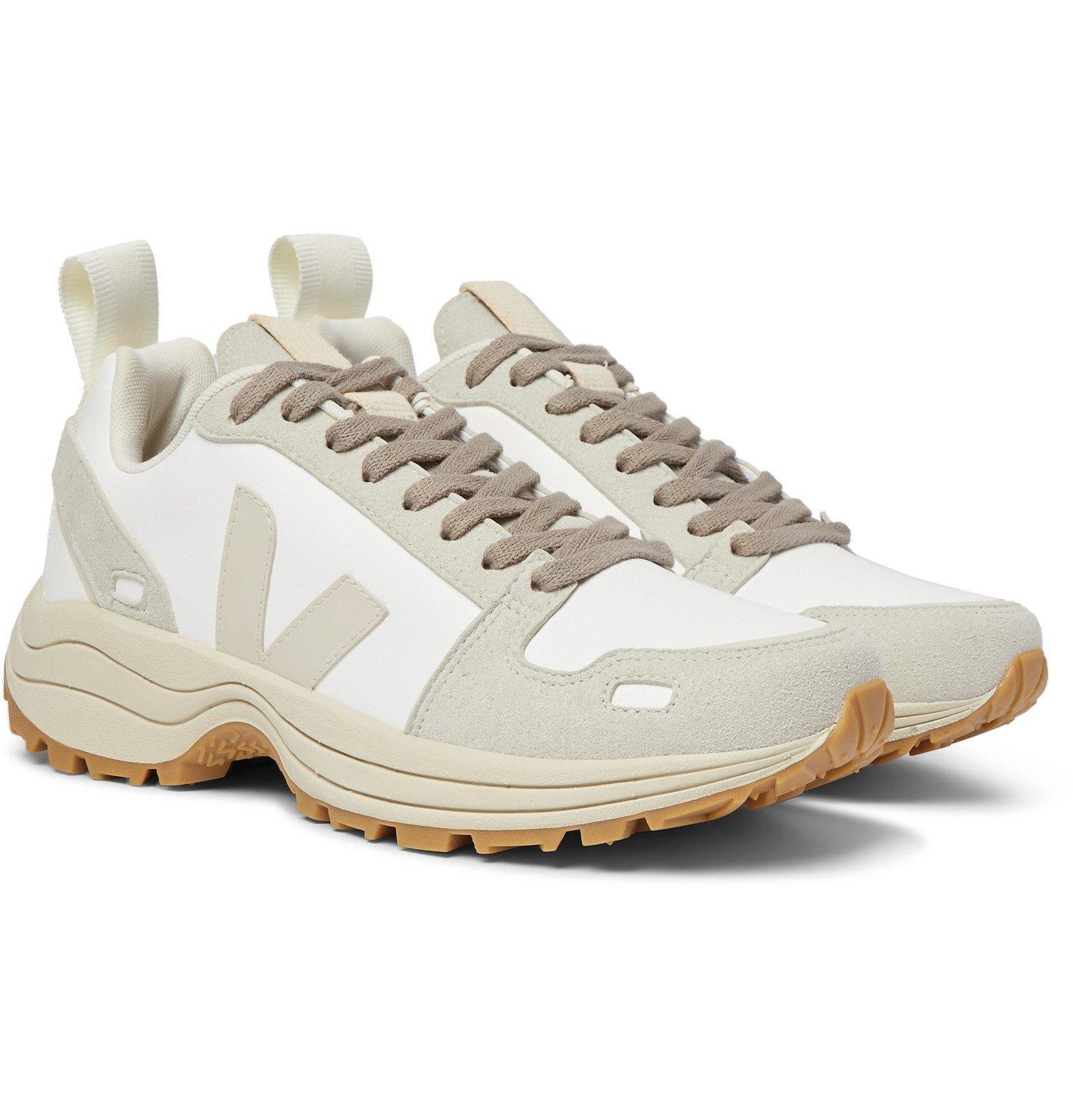 Photo: Rick Owens - Veja Venturi Vegan Suede-Trimmed Faux Leather Sneakers - White
