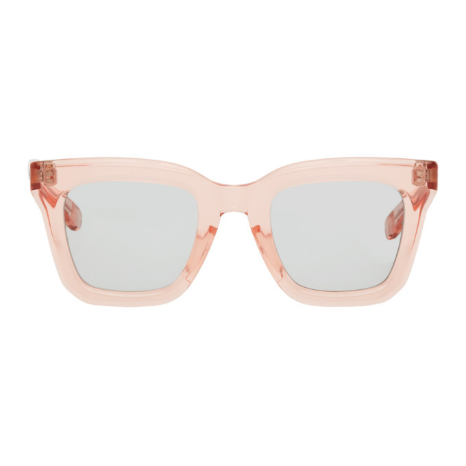 Photo: Sacai Pink Native Sons Edition Cornell Square Sunglasses
