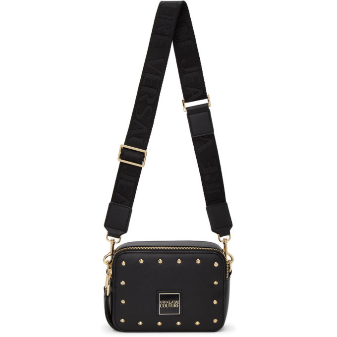 Versace Jeans Couture Black Faux-Leather Camera Bag