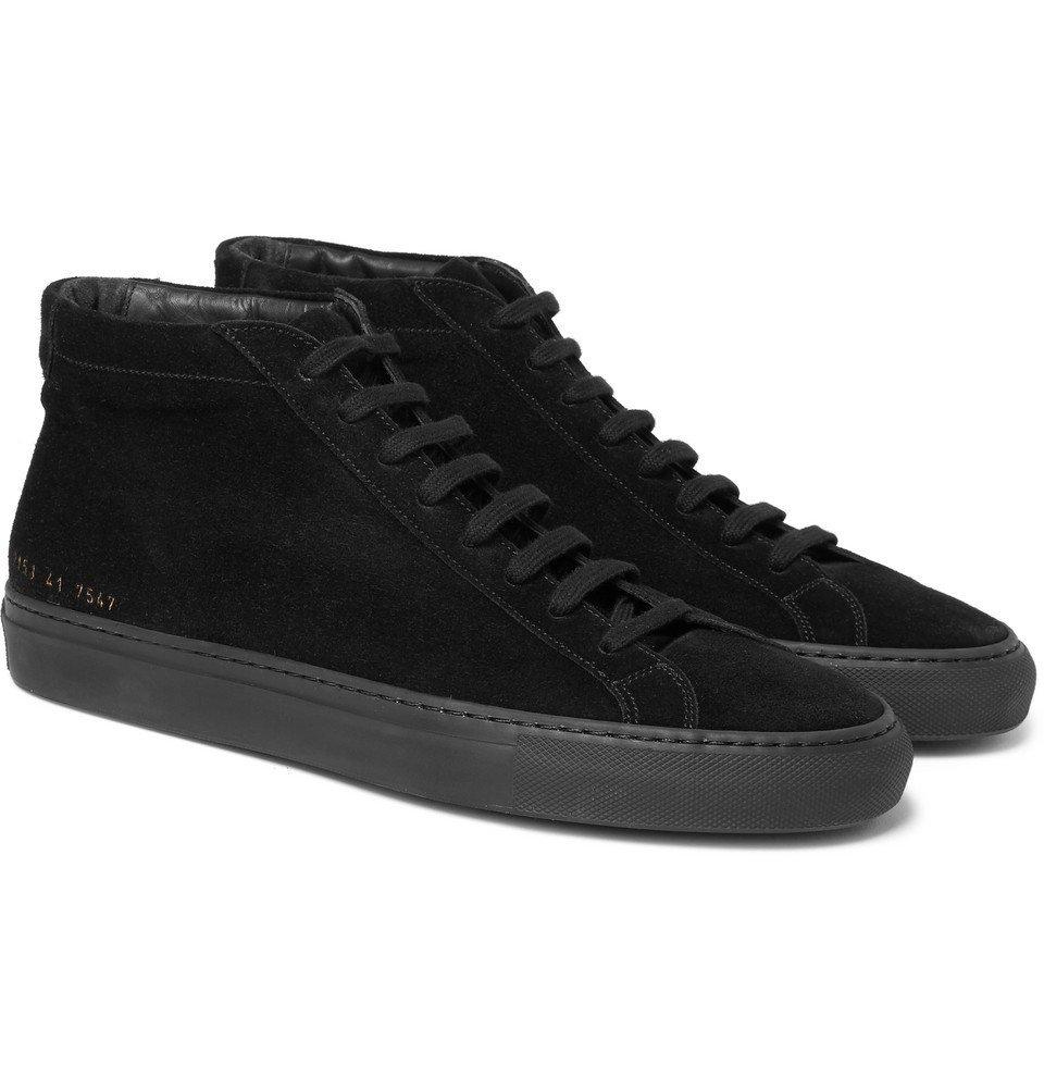 Common Projects - Original Achilles Suede High-Top Sneakers - Men - Black
