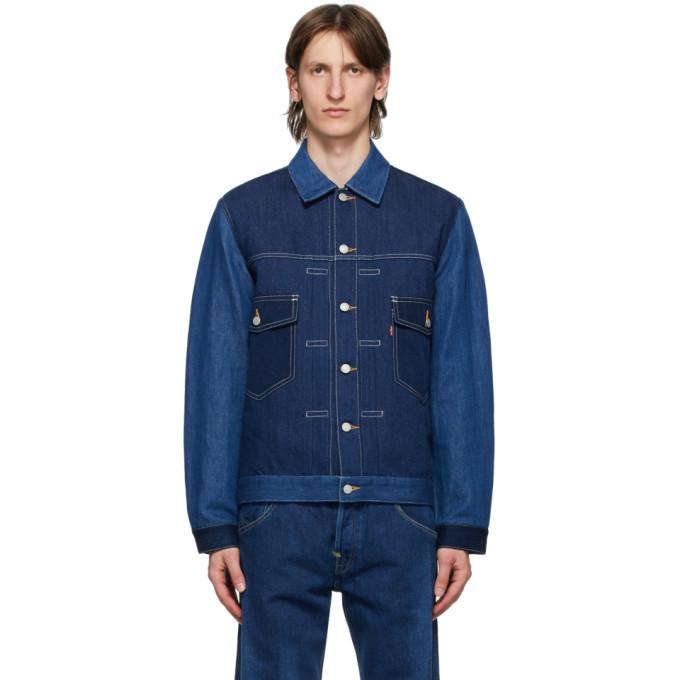 Photo: Junya Watanabe Indigo Levis Edition Linen Denim Jacket