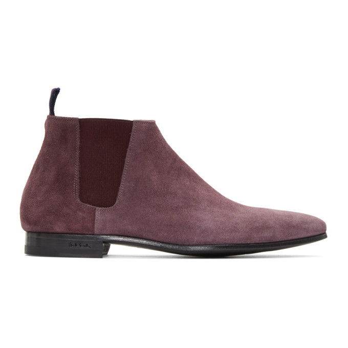 Photo: Paul Smith Burgundy Suede Marlowe Chelsea Boots