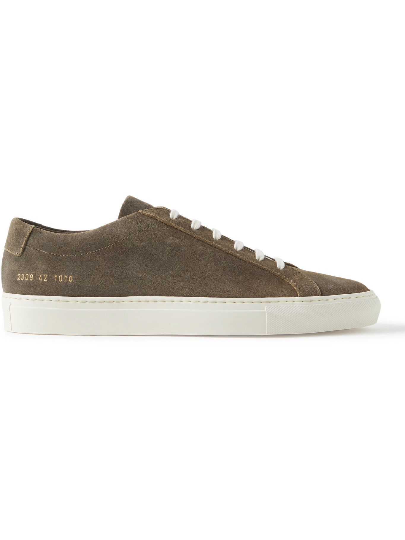 Photo: Common Projects - Original Achilles Waxed-Suede Sneakers - Green