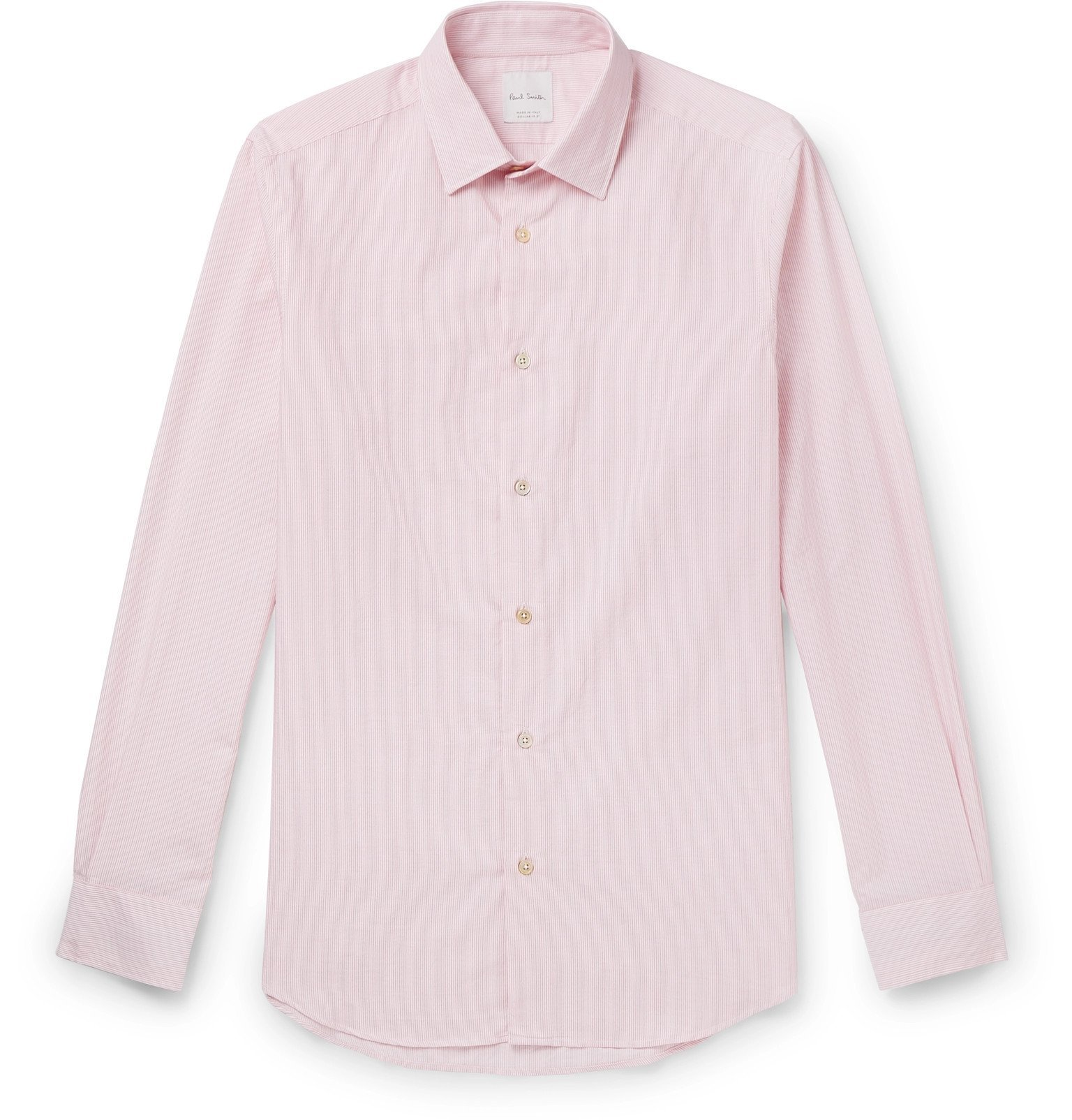 Photo: Paul Smith - Soho Slim-Fit Striped Cotton Shirt - Red