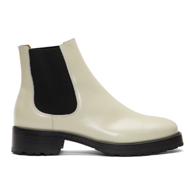 Photo: Tiger of Sweden Off-White Balans Chelsea Boots
