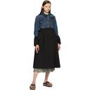 Sacai Blue and Black Denim Suiting Coat