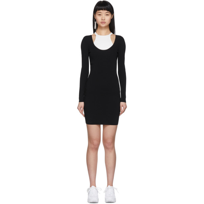 Photo: alexanderwang.t Black and White Bi-Layer Dress