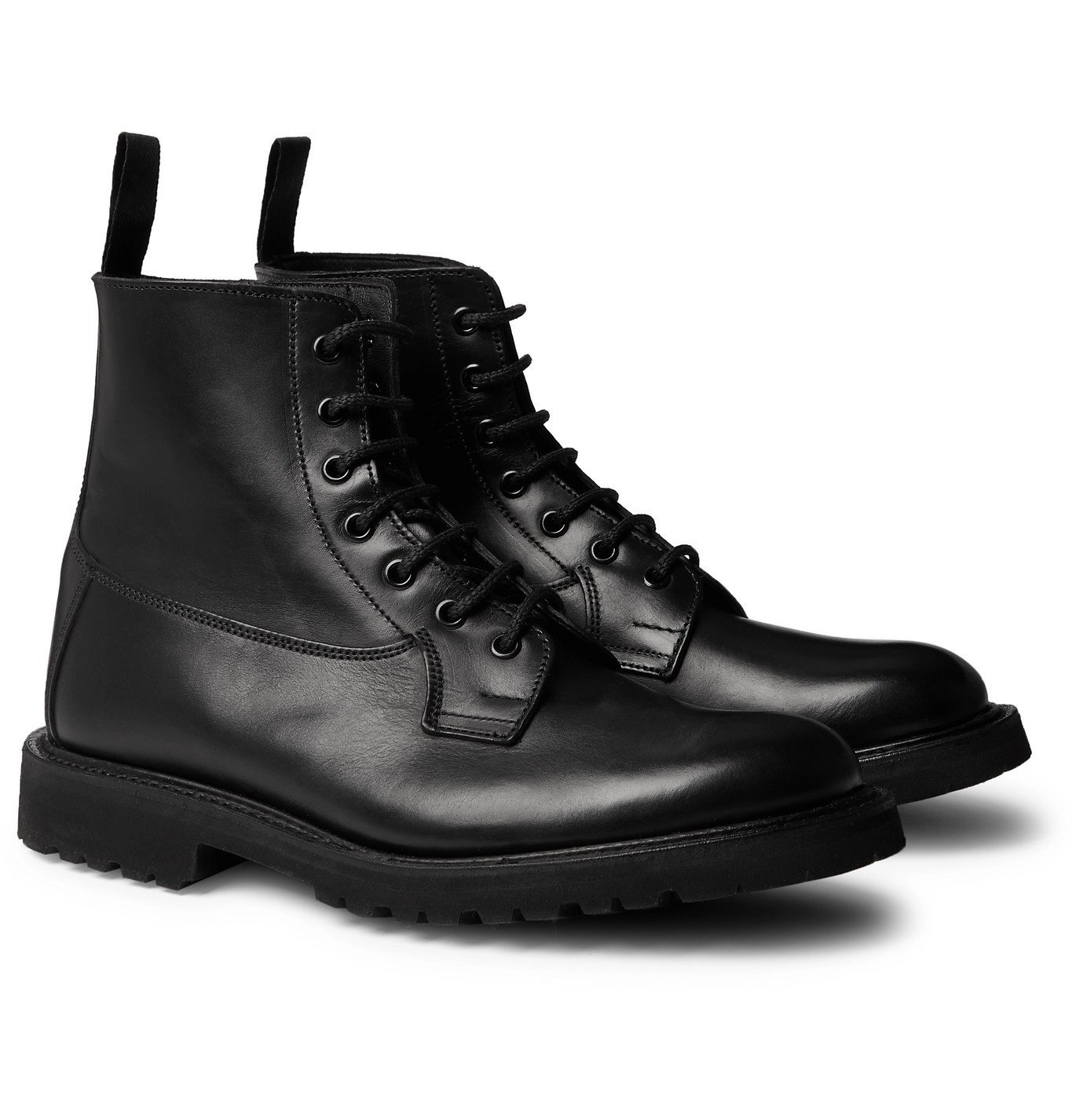 Photo: Tricker's - Burford Leather Boots - Black