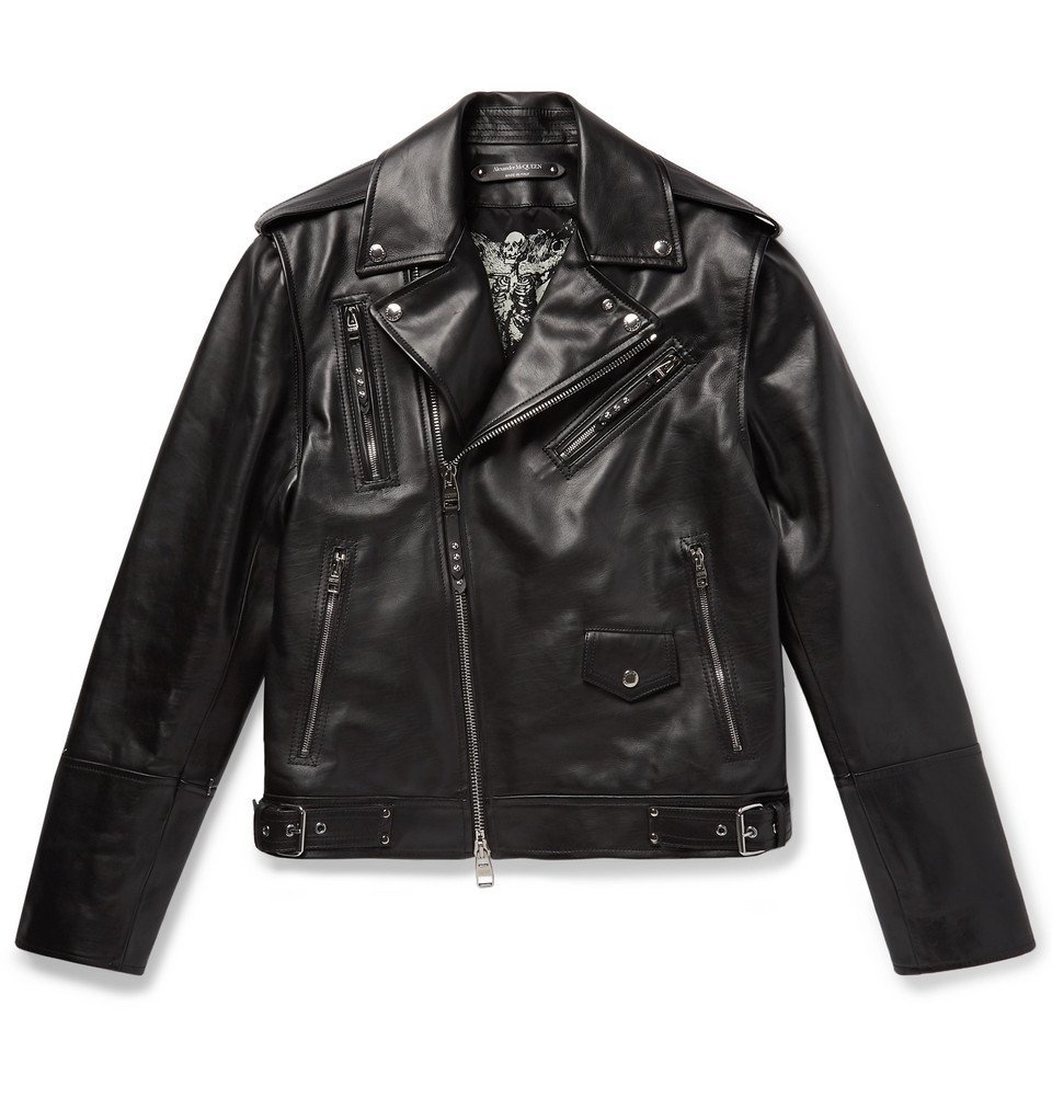 Photo: Alexander McQueen - Convertible Leather Biker Jacket - Men - Black
