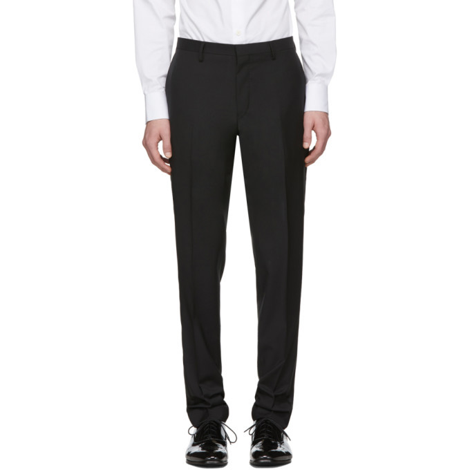 Photo: Tiger of Sweden Black Wool and Mohair Thulin Trousers
