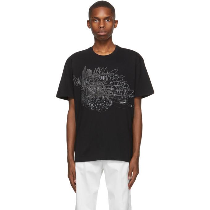 Photo: Valentino Black Colosseum Sketch T-Shirt