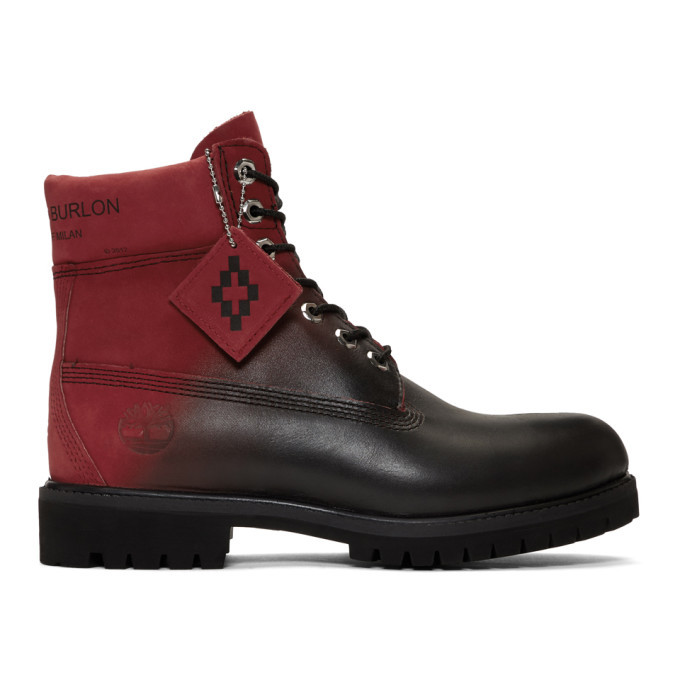 Photo: Marcelo Burlon County of Milan Red and Black Timberland Edition Nubuck Boots