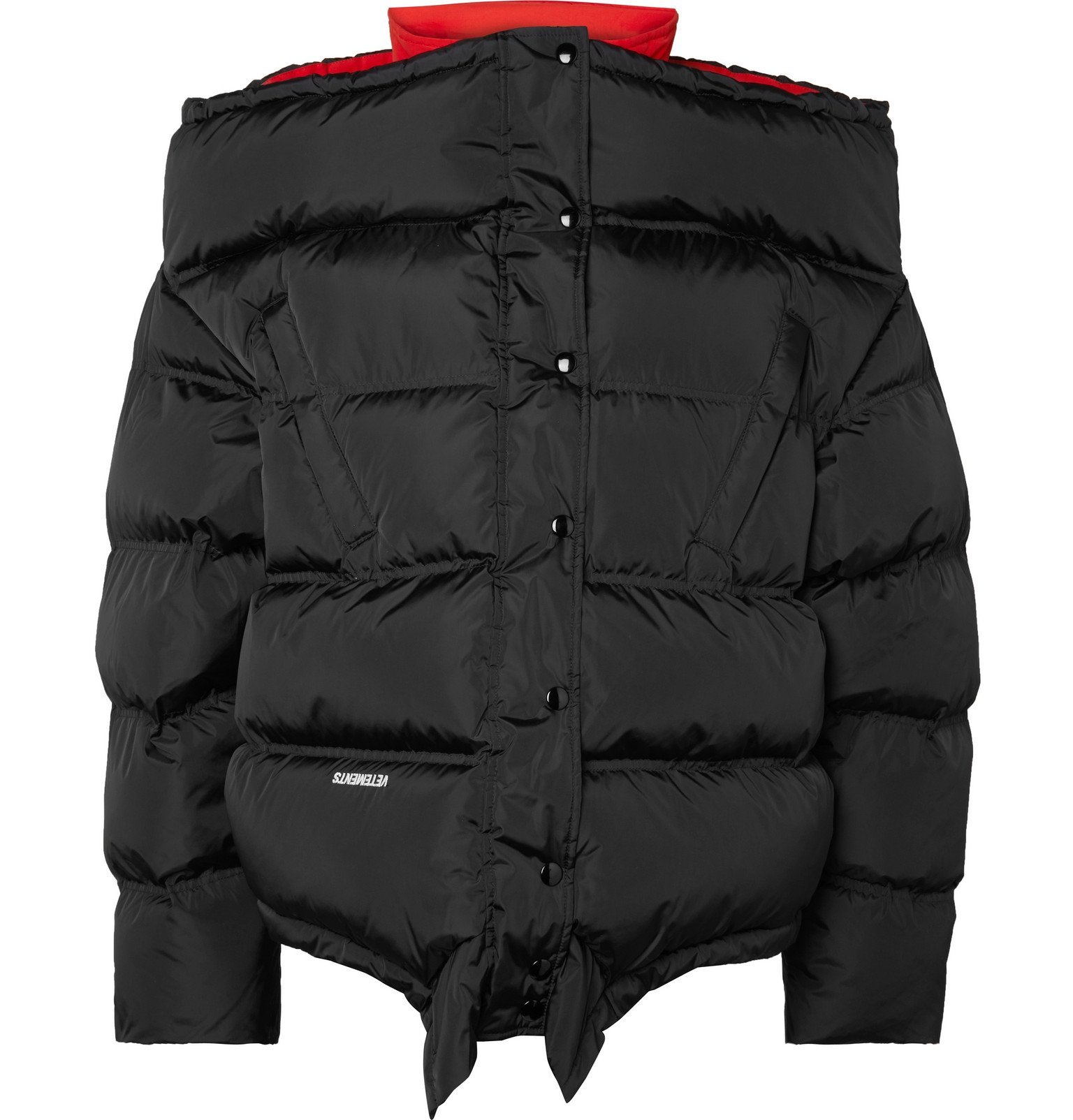 Photo: Vetements - Quilted Shell Jacket - Black