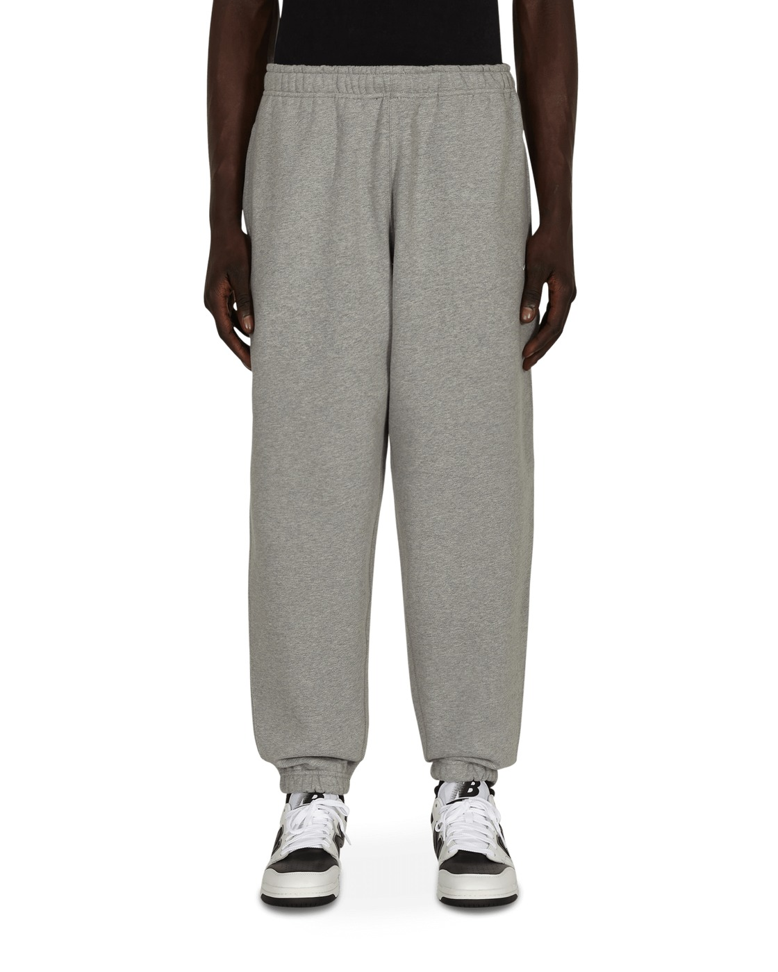 Photo: Nike Special Project Solo Swoosh Sweatpants Dk Grey Heather/White