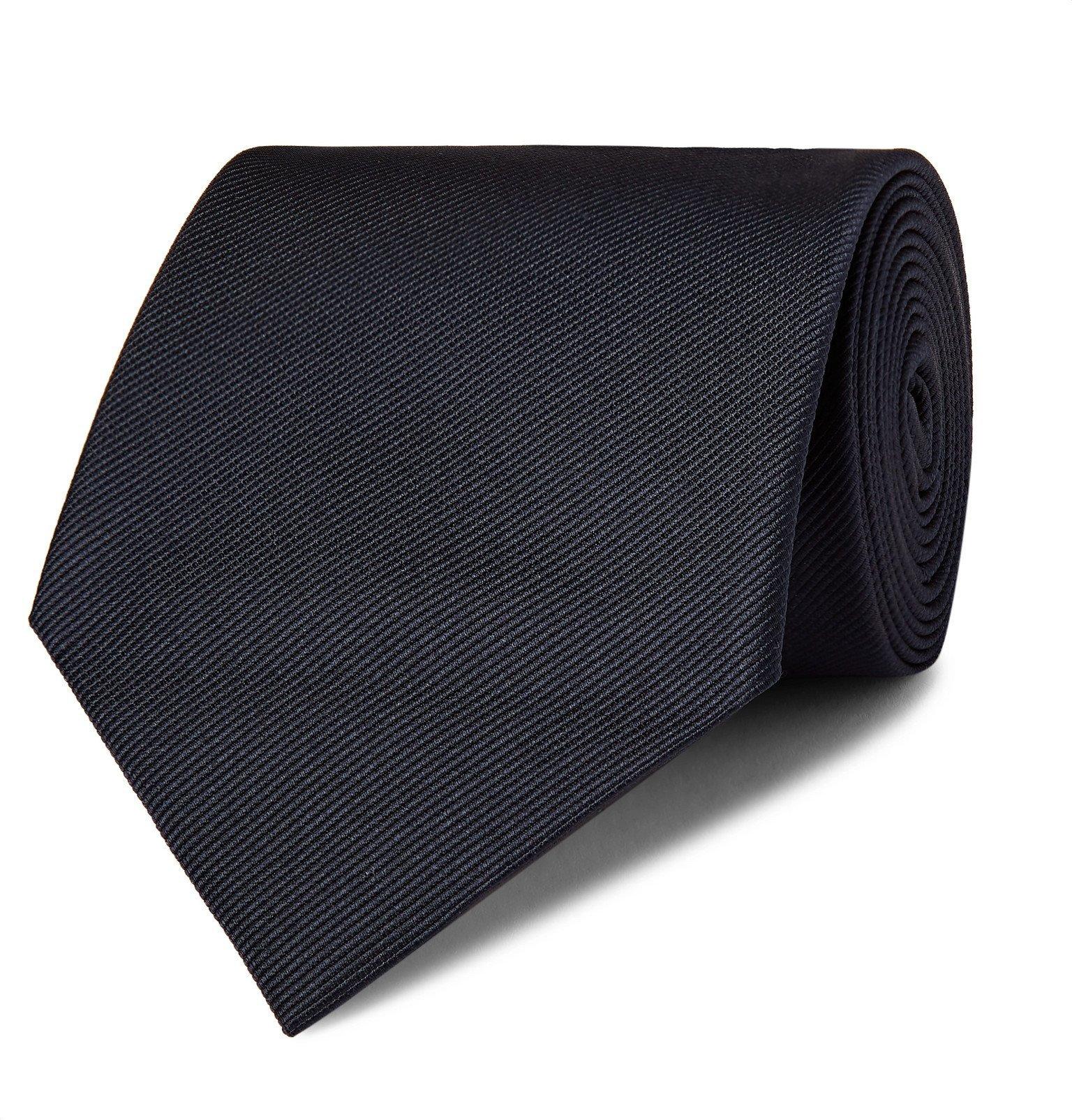 Giorgio Armani - 8cm Silk-Twill Tie - Blue