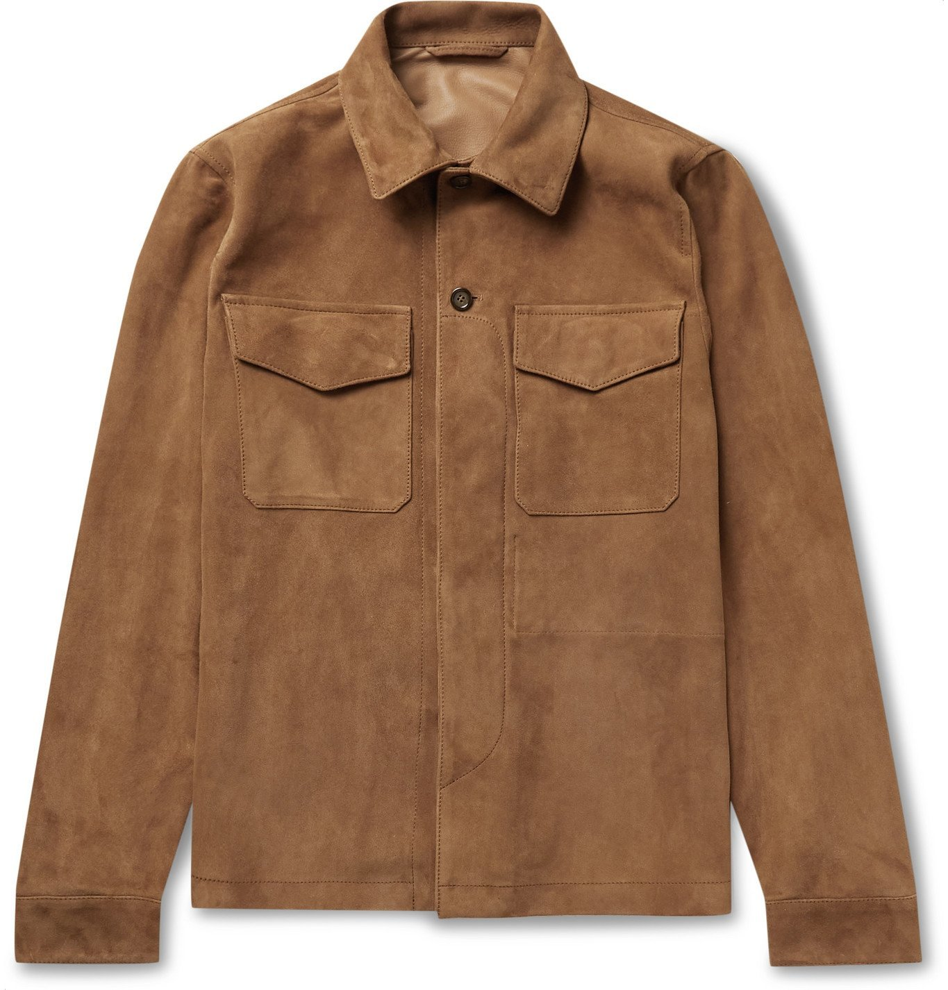Photo: Valstar - Suede Overshirt - Brown