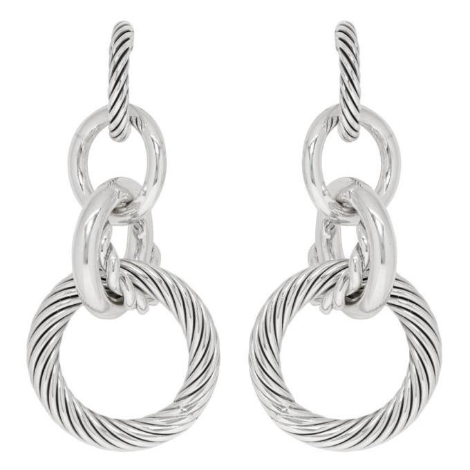 Photo: Bottega Veneta Silver Multi Hoop Earrings