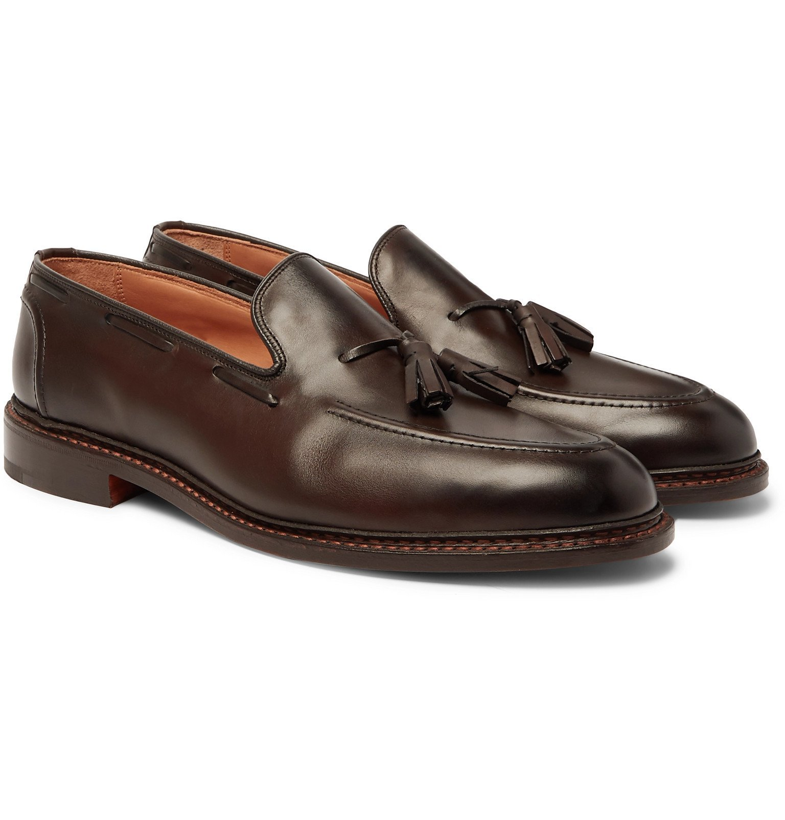 Photo: Tricker's - Elton Leather Tasselled Loafers - Brown